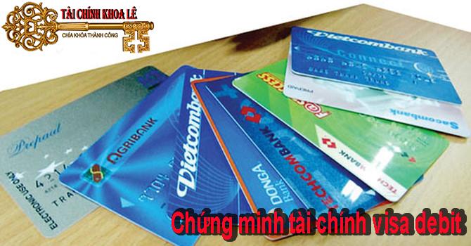 chứng minh tài chính thẻ visa debit